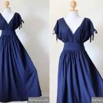 Navy Blue Maxi Dress - Slee..