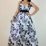 Floral Maxi Dress Black and..