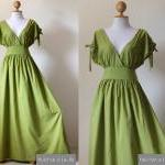 Green Maxi Dress - Sleevele..