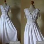 White Evening Dress - high ..