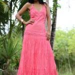 Pink Tie Dyed Maxi Dress : ..