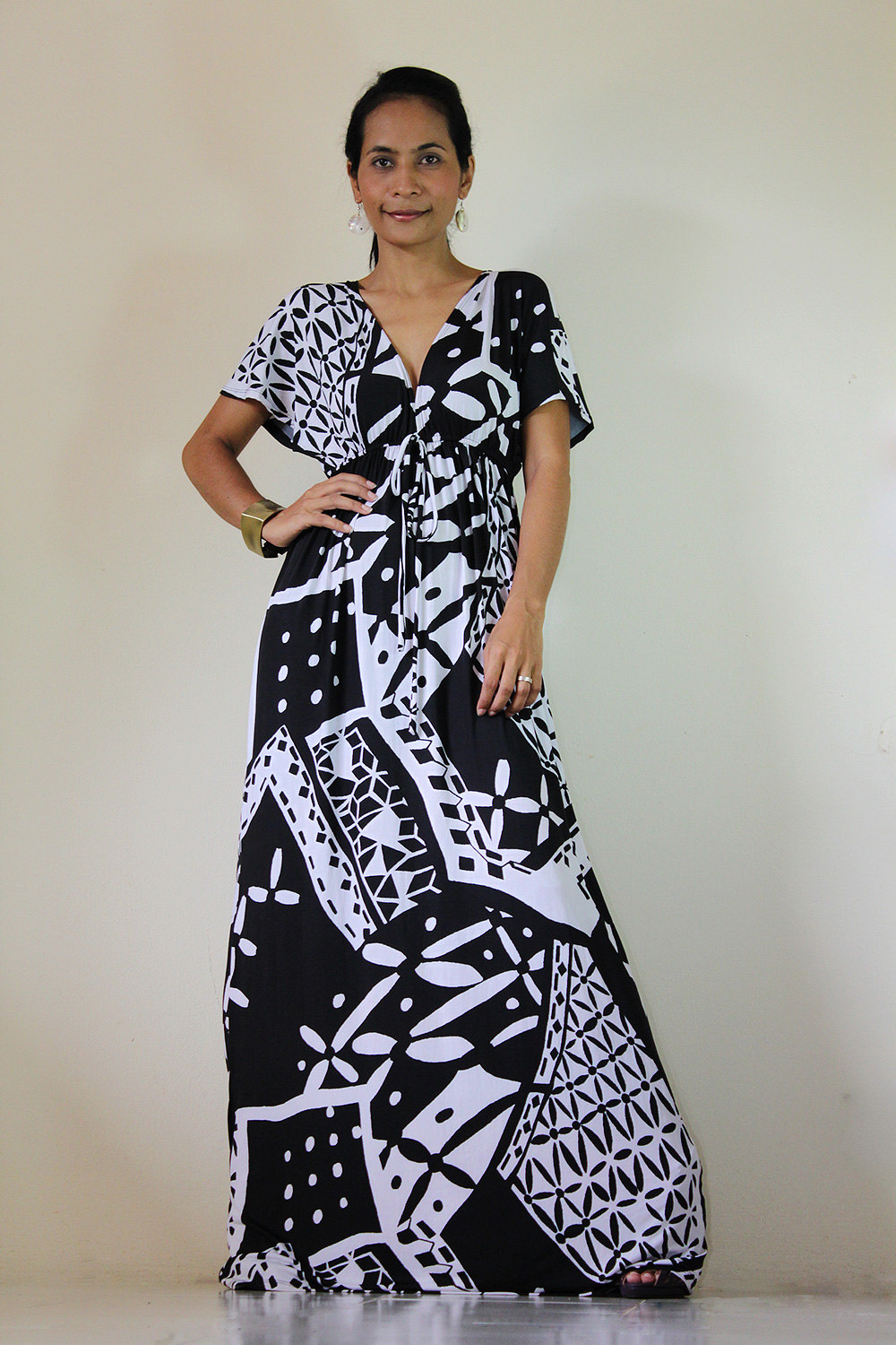 Black and white dress Kimono long Tube Maxi Dress: Elegant Collection