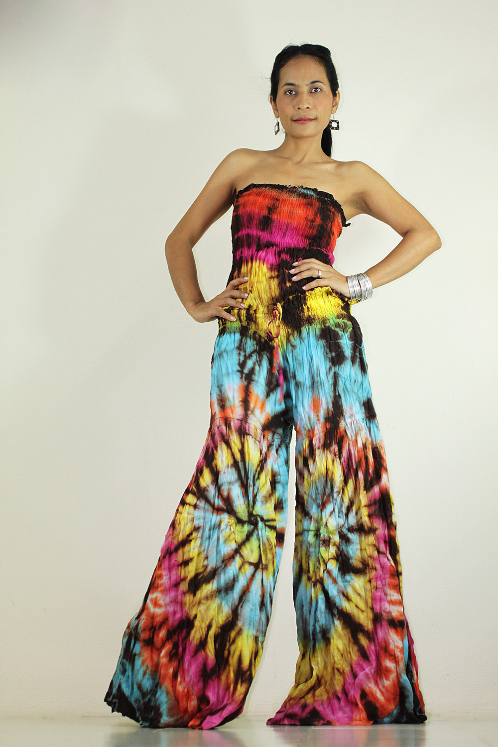 jumpsuit tie dye hippie boho jumper tube maxi dress exotic collection tie dye wedding dress Jumpsuit Tie Dye Hippie Boho Jumper Tube maxi dress Exotic Collection