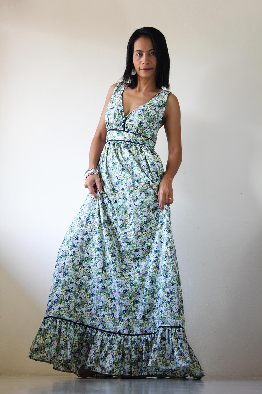 Floral maxi dress long summer dress you wear it well for Summer maxi dress for wedding