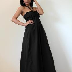 Black Maxi Dress - Sexy Strapless Long Cotton Maxi Dress : New Cutie &amp; Sexy Collection