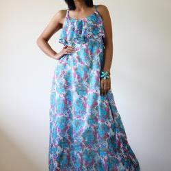 Casual Maxi Dress Floral Bohemian Cocktail Summer Dress: Sunny Dreams Collection